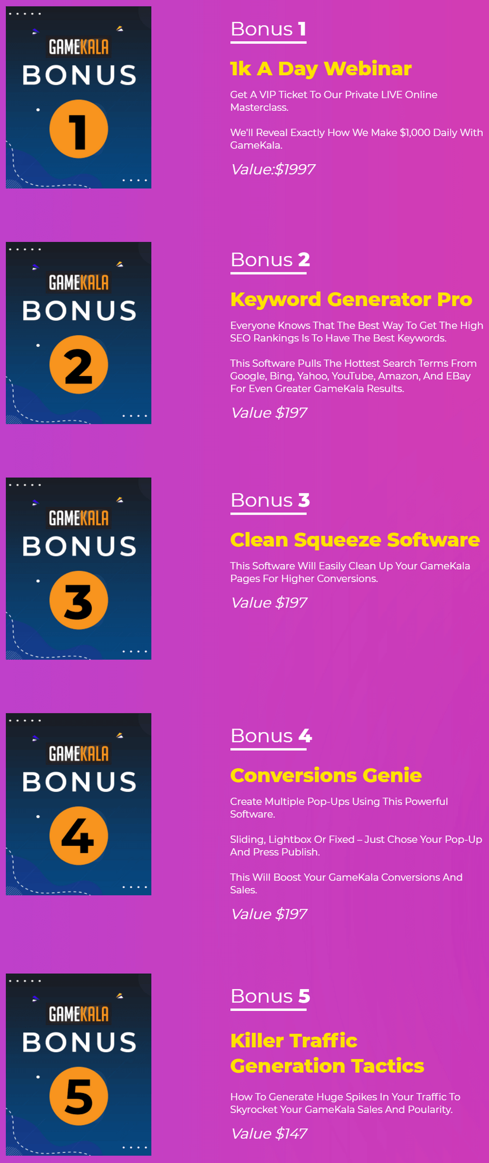GameKala-bonus