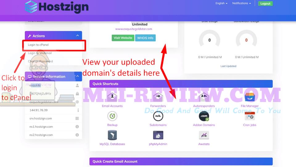 HostZign-demo-7-Login-to-cPanel