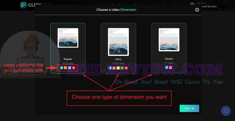 ClipsReel-demo-4-3-dimensions