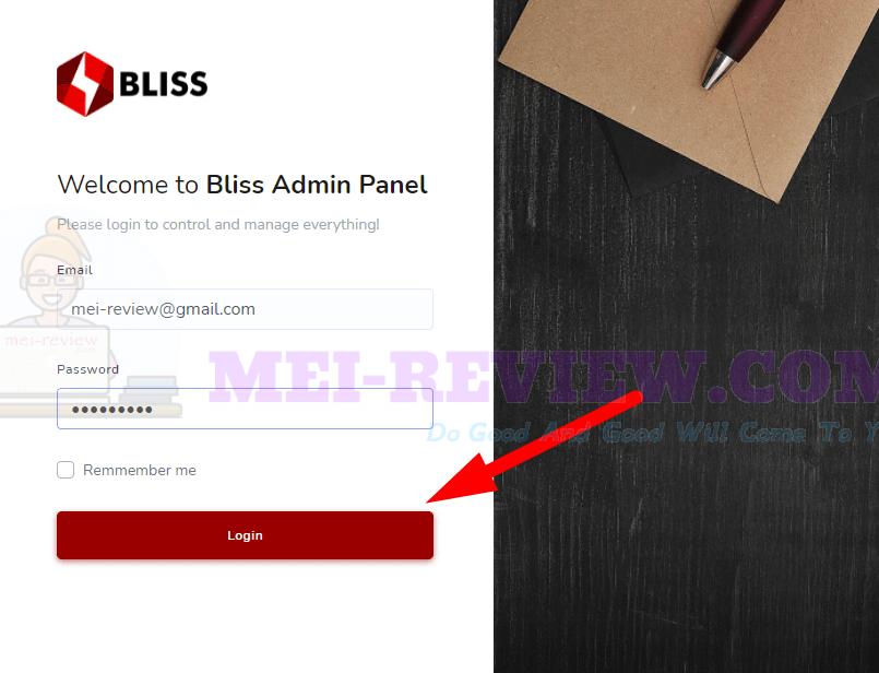 Bliss-demo-1-login