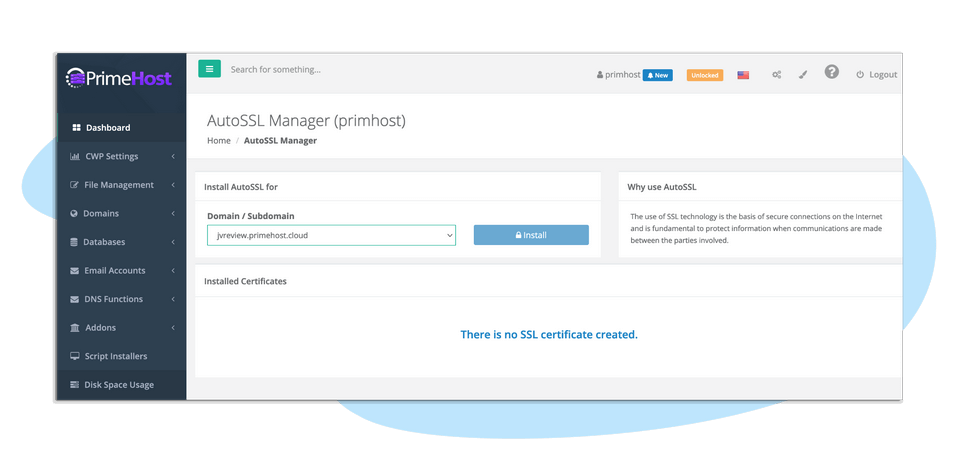 PrimeHost-feature-3-Unlimited-Free-End-To-End-SSL-Encryption