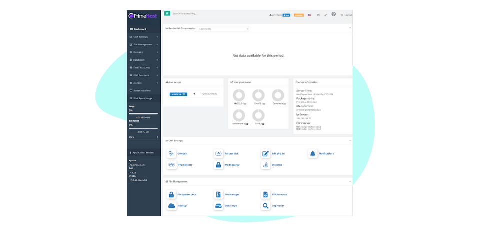 PrimeHost-feature-8-Easy-To-Use-A-Panel