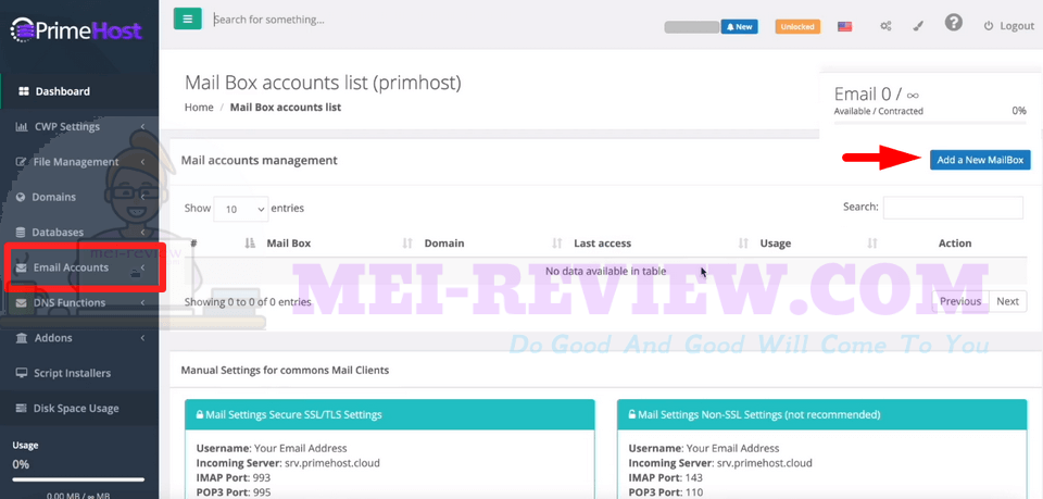 PrimeHost-demo-13-Email-Accounts
